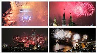 مراسم آتشبازی آغاز سال نوی میلادی در شهرهای مختلف جهان