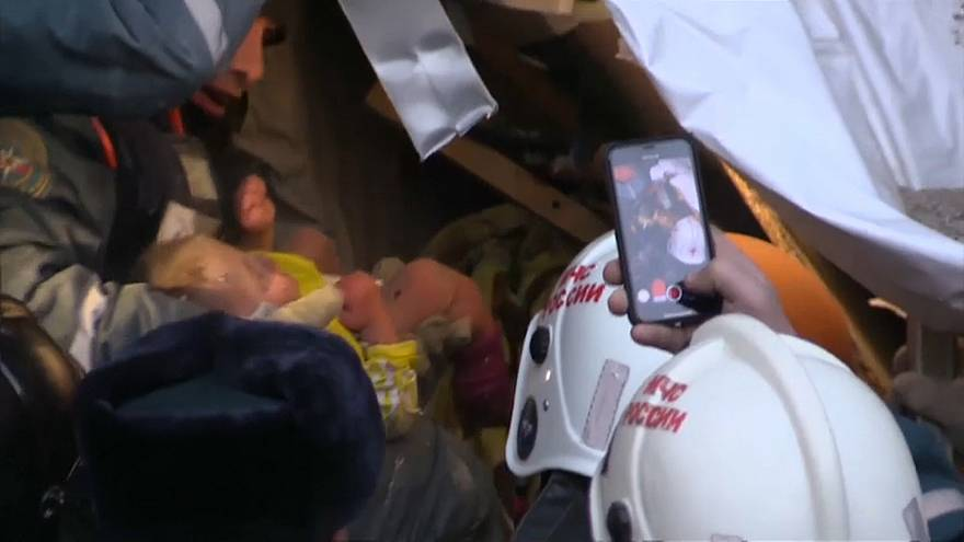 Infant found alive in rubble after Russian gas blast
