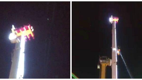 شاهد: طوافة تنقذ ثمانية مراهقين من برج للملاهي في فرنسا
