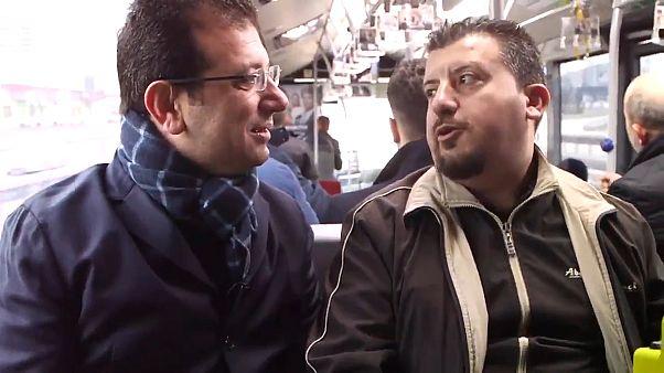 İmamoğlu piyangoyla metrobüs alma hayalindeki vatandaşla Çağlayan hattında: Sürprizimiz olacak