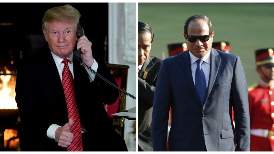 ترامب والسيسي يبحثان تطورات الأوضاع في الشرق الأوسط