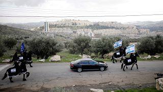 Construções de casas em colonatos na Cisjordânia ocupada