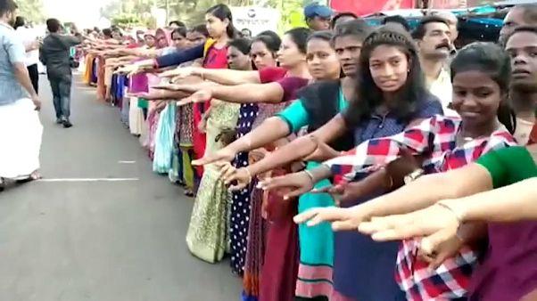 سلسلة بشرية بطول 600 كلم في الهند لأجل مكافحة التمييز بين الجنسين
