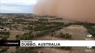 Watch : Spectacular dust storm arrives in Australia on New Years Eve