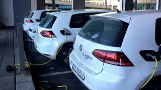 Electric cars charging in Oslo