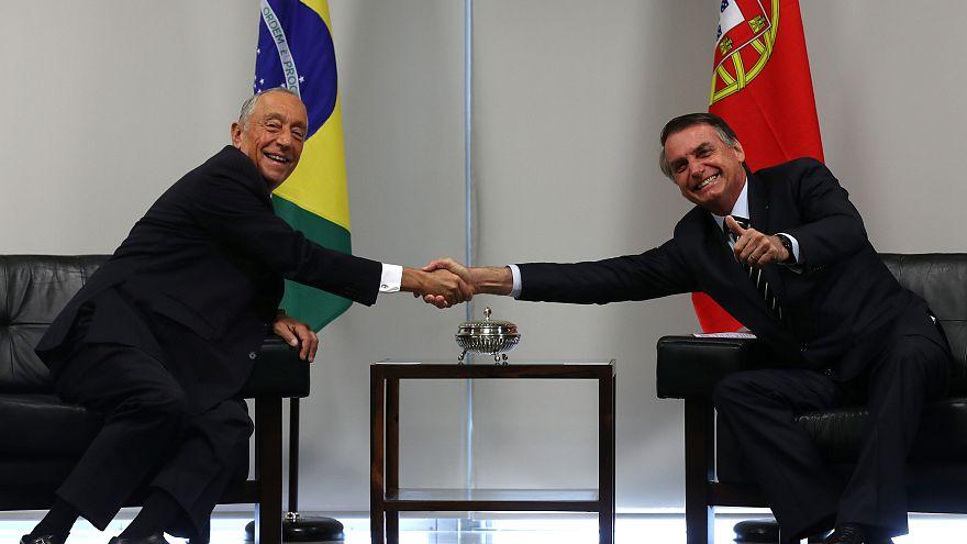 """Marcelo Rebelo de Sousa no Palácio do Planalto para um """"encontro de irmãos"""""""