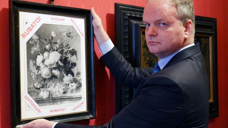 Eine Replikation des Gemäldes in der Uffizien-Galerie