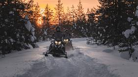 'World's first' all-electric snowmobiles hit the Arctic