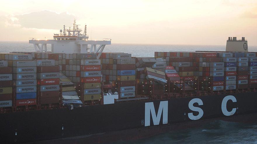 Des conteneurs à la dérive en mer du Nord
