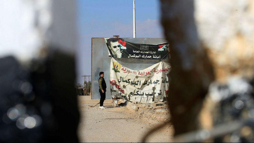 تصویر بشار اسد در مرز سوریه و عراق