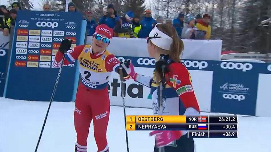 Российские лыжники снова вторые