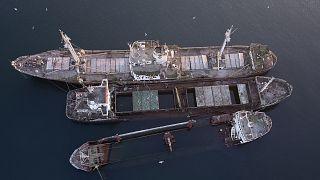 Επιχείρηση για την ανάσυρση των ναυαγίων