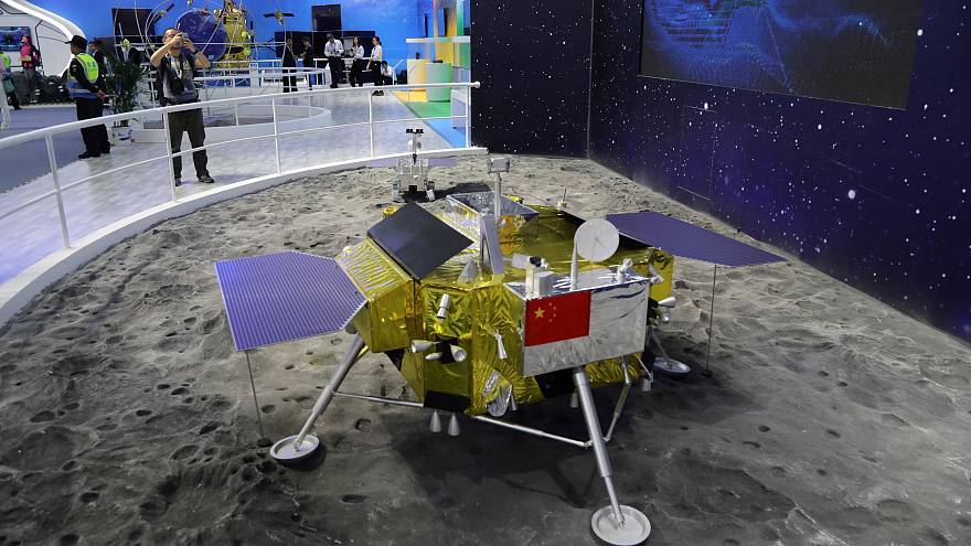 Model of the moon lander for China's Chang'e 4 lunar probe