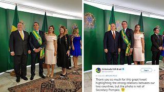 La comunicación de Bolsonaro confunde a Mike Pompeo con Viktor Orbán