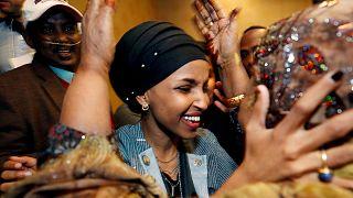 Video | ABD tarihinde ilk: Başörtülü Kongre Üyesi Ilhan Omar genel kurulda