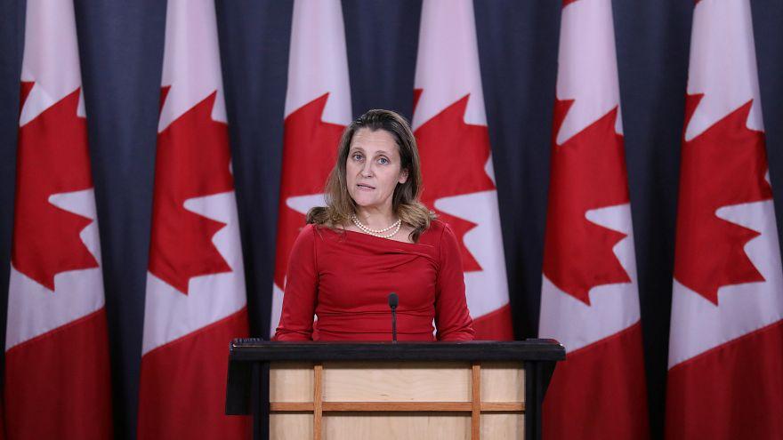 وزيرة الخارجية الكندية كريستيا فريلاند