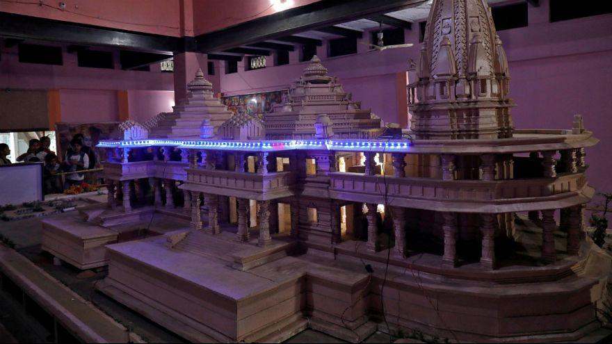 مدل پیشنهادی گروههای هندو برای ساخت معبد در محل مسجد بابری