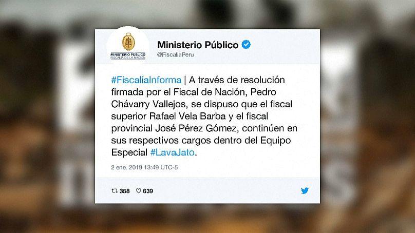 Martín Vizcarra rechaza remoción de fiscales y adelanta su regreso al país