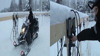 مزلاج بالشحن الكهربائي جديد السياحة في القطب الشمالي