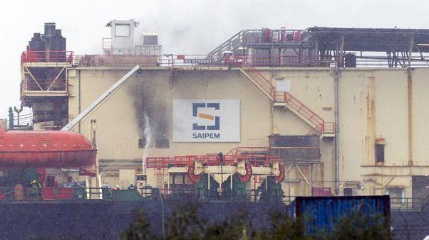 Πυρκαγιά σε πλατφόρμα στο λιμάνι Λεμεσού