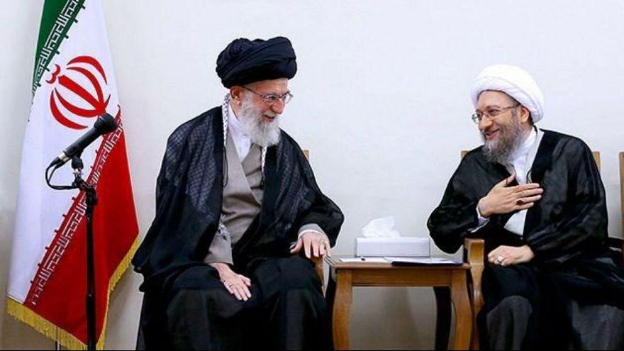 صادق آملی لاریجانی در دیدار با علی خامنهای