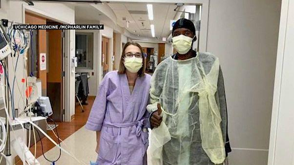 دارو وسارة  في أروقة المستشفى الجامعي في شيكاغو