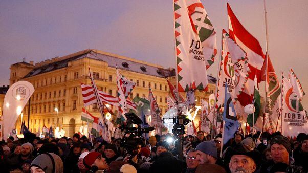 تظاهرات هزاران نفر در بوداپست در اعتراض به «قانون بردگی» دولت مجارستان