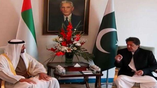 شاهد: محمد بن زايد ولي عهد أبو ظبي يصل إلى باكستان في زيارة استمرت ساعات