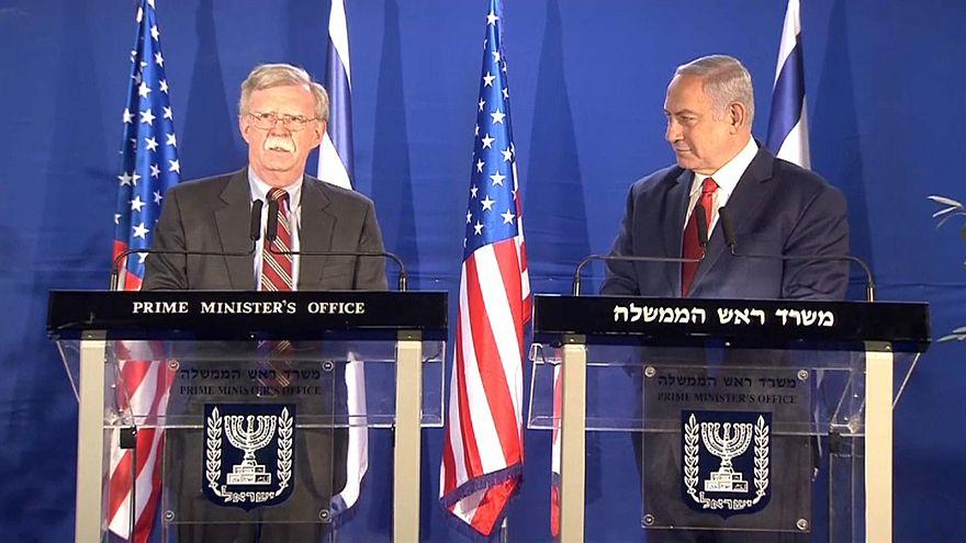 بولتون يؤكد على حماية إسرائيل.. ونتنياهو يطالبه بالاعتراف بسيادتها على الجولان
