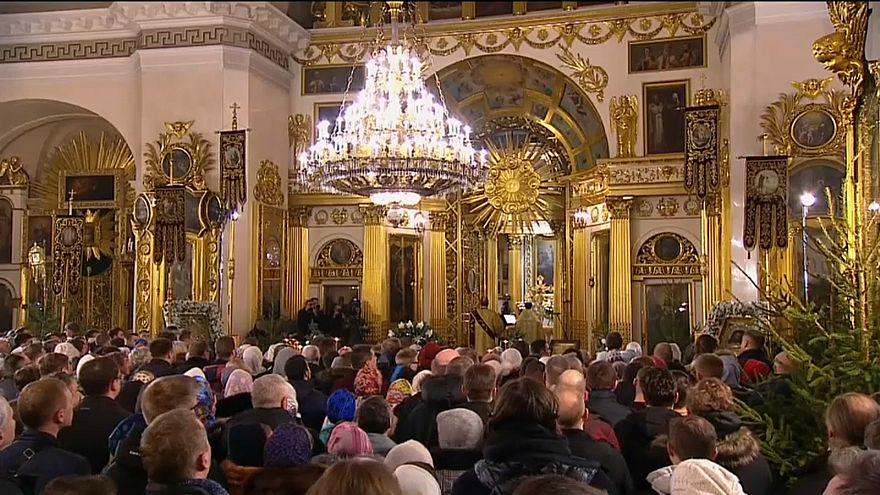 В России встретили Рождество