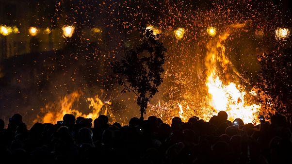 Orthodoxe Christen feiern Weihnachtsfest