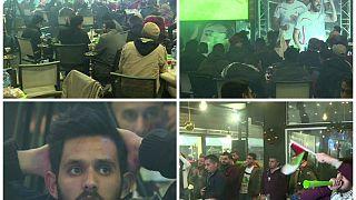 شاهد فرحة الجمهور الفلسطيني بتعادل منتخبهم أمام سوريا في كأس آسيا
