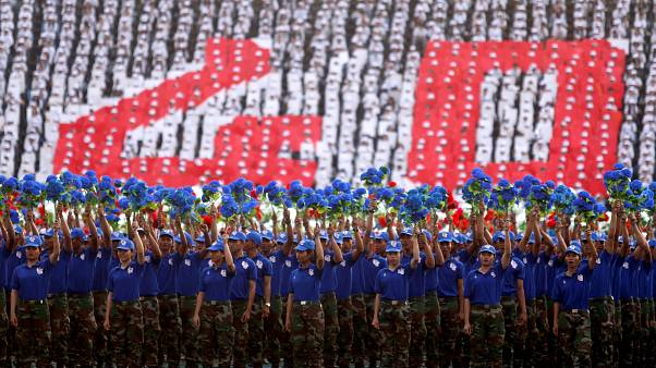 Cerimónia de 40 anos do fim do regime do Khmer Vermelho
