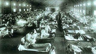 Emergency military hospital during influenza epidemic, Camp Funston, Kansas