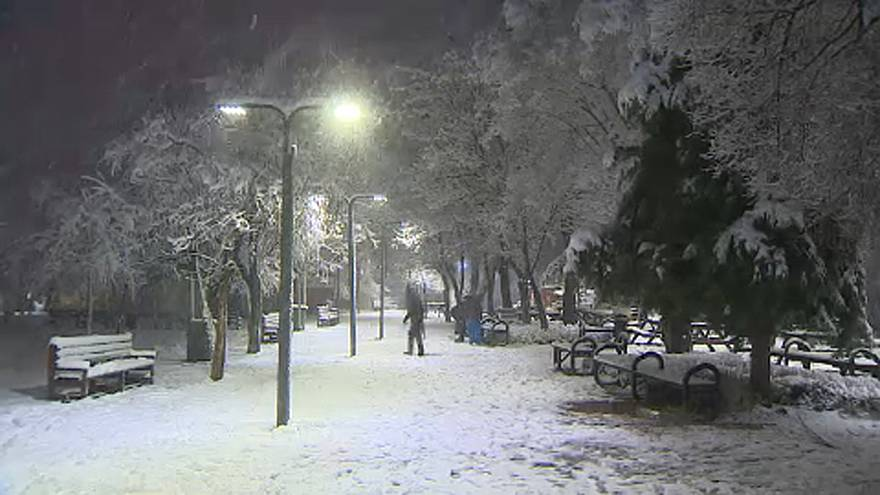 Schneechaos in Südeuropa