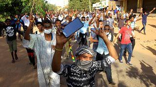 Des manifestants soudanais, le 3 janvier à Khartoum.
