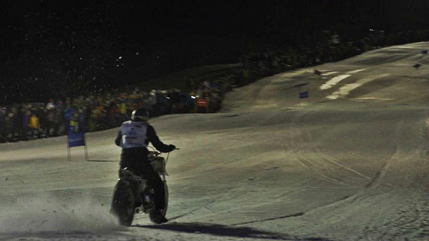اسکی با موتورسیکلت در ایتالیا
