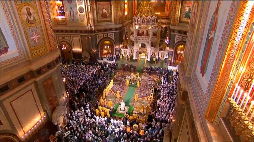 Az önálló ukrán ortodox egyház első karácsonyi liturgiája