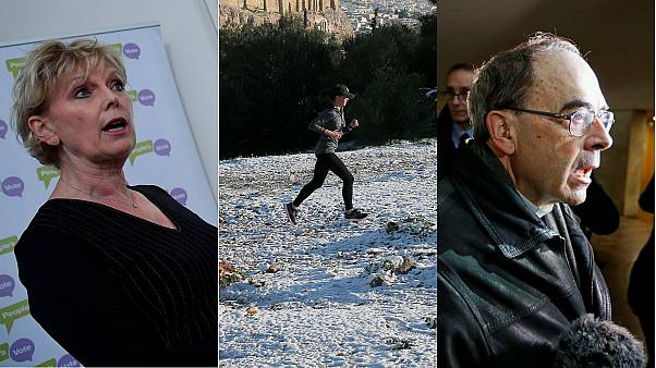 Athens snowstorm, French cardinal case and UK abusive protesters: Europe briefing