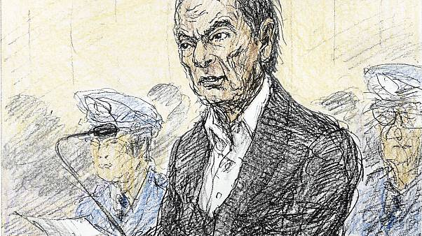 A court sketch of Carlos Ghosn
