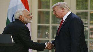ترامب ومودي يناقشان التجارة وأفغانستان