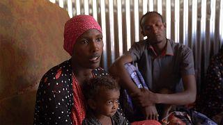 أكواخ من الصفيح ومكاتب رسمية فارغة تحولت لمنازل النازحين الى إقليم أوروميا الإثيوبي