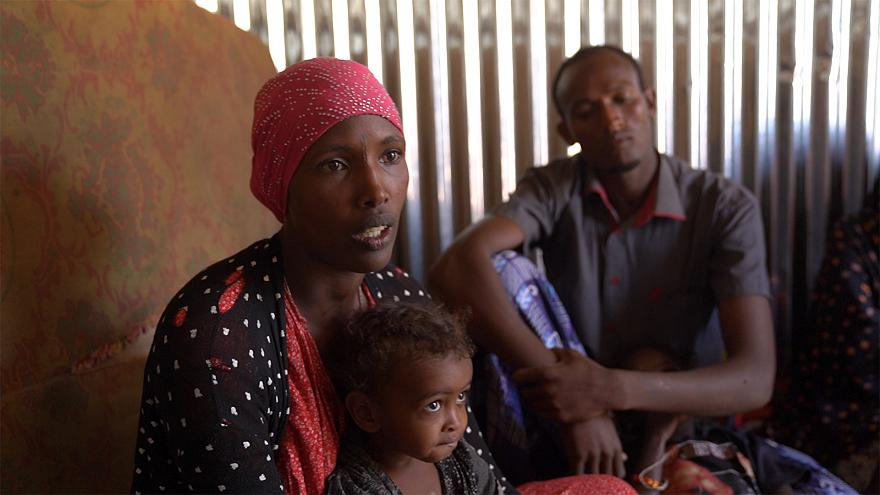 Displaced in Ethiopia:  huts and empty offices for homes