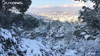Χιόνια στην Αθήνα με τη ματιά του euronews