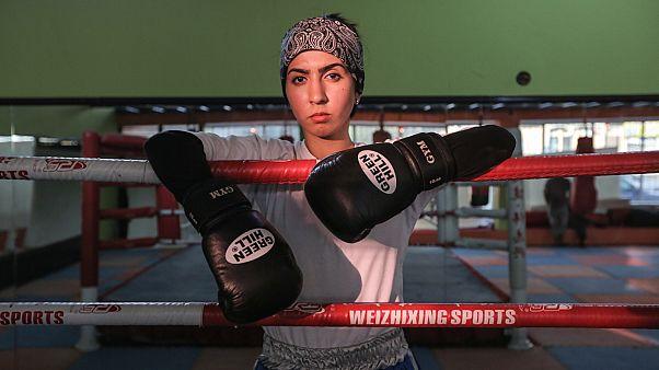سعدیه برومند دختر بوکسور افغان در آرزوی گرفتن مدال المپیک