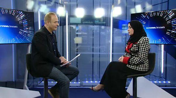 """شاهد: رئيسة البرلمان الإماراتي في حديث لـ""""يورونيوز"""" عن ملفات عربية ساخنة"""