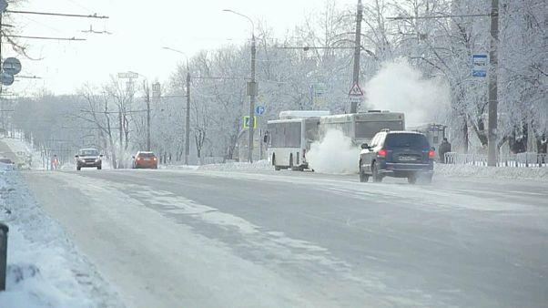 Orosz mércével is rendkívül hideg van a Volga térségében