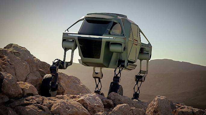 Take a stroll into the future with this walking car