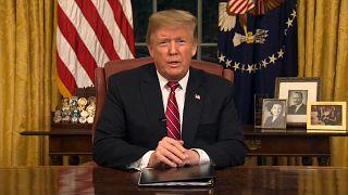 Trump defiende en un discurso a la nación la construcción del muro