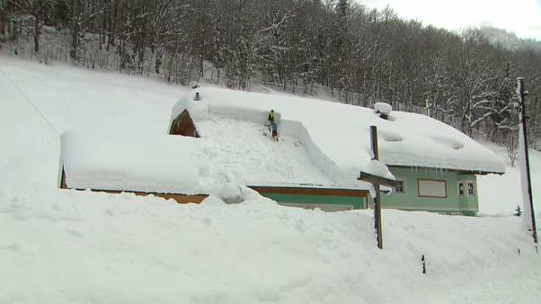 شاهد: الثلوج الكثيفة تشل الحياة في النمسا